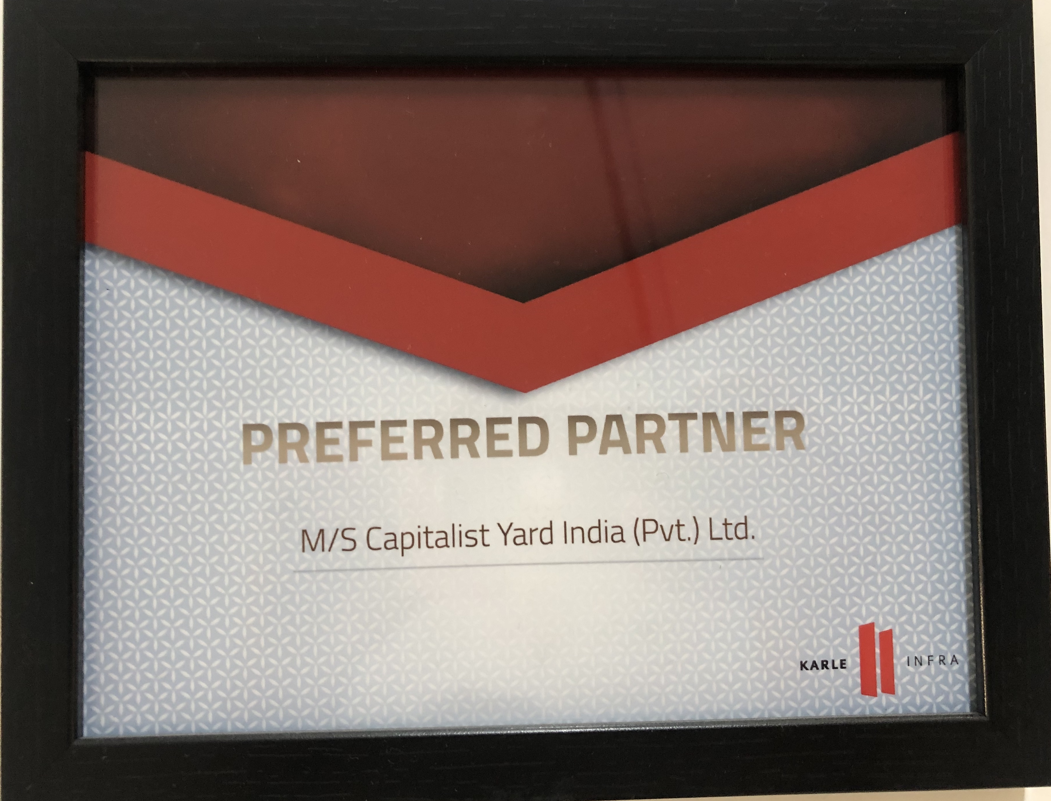 Capitalist Yard Award by G Corp Builders